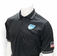 Smitty Black FHSAA Embroidered Baseball Short-Sleeve Umpire Shirt