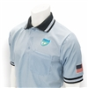 Smitty Light Blue FHSAA Dye Sublimated Baseball Short-Sleeve Umpire Shirt