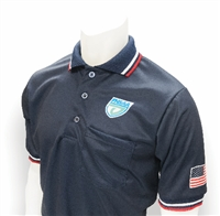 Smitty Navy FHSAA  Embroidered Baseball Short-Sleeve Umpire Shirt
