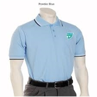 Smitty Powder Blue FHSAA  Embroidered Softball Short-Sleeve Umpire Shirt