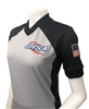 "GHSA WOMEN'S DYE SUBLIMATED ""BODY FLEX"" BASKETBALL REFEREE SHIRT"