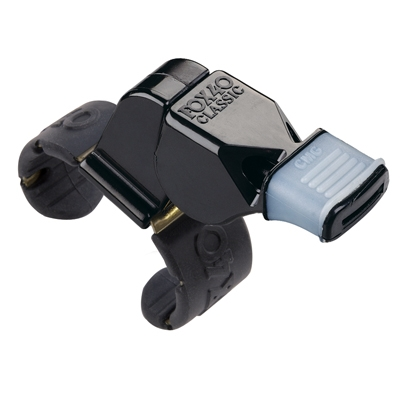 Fox 40 Classic Fingertip Whistle with Cushoined Mouthguard