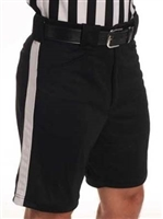 Smitty Referee Shorts - Black with White Side Stripe