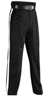 "SMITTY REFEREE ""COLD WEATHER PANTS""  WITH 1 1/4"" WHITE STRIPE"