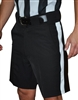 "SMITTY REFEREE ""4-WAY STRETCH SHORT""  1 1/4 Stripe"