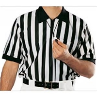 "Smitty Mesh Short Sleeve Referee Shirt with 1"" Stripe"