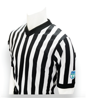 "FHSAA Basketball Dye Sublimated 1"" V-Neck Referee Shirt"