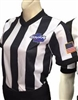 "GHSA Dye Sublimated 2"" V-Neck Referee Shirt for Women"
