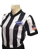 "GHSA Dye Sublimated ""BODY FLEX"" 2"" V-Neck Referee Shirt for Women"