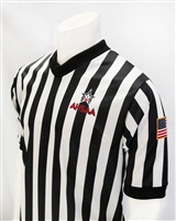 "AHSAA Dye Sublimated 1"" V-Neck Referee Shirt"