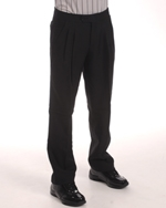 PLEATED FRONT PANTS W/FRONT LAY SLASH POCKETS