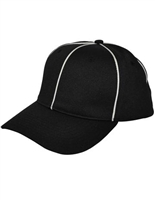 Smitty Flex Fit Black w/ White Piping Referee Hat