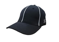 Smitty Performance Flex Fit Black w/ White Piping Referee Hat