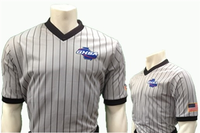 GHSA Smitty Gray w/Black Pinstripes V-Neck