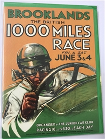 Brooklands 1000 Mile Race Card