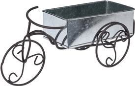 Zinc Bike Flower Pot
