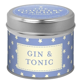 Stars Candle in Tin - Gin & Tonic