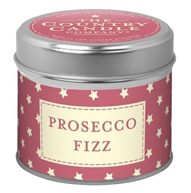 Stars Candle in Tin - Prosecco Fizz