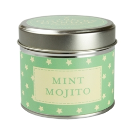 Stars Candle in Tin - Mojito Mist