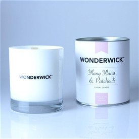 Wonderwick Glass Candle - Ylang Ylang and Patchouli