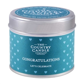 Sentiments Candle in Tin - Congrats