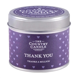 Sentiments Candle in Tin - Thank You