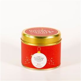 Candle in Tin - Merry Christmas