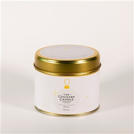 Candle in Tin - White Winter