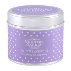 DUE MAY SPolka Dot Candle in Tin - White Lavender
