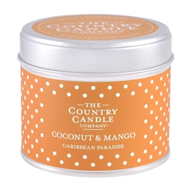 Polka Dot Candle in Tin - Coconut & Mango