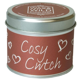 Wax & Wild Candle in Tin - Cosy Cwtch