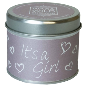 Wax & Wild Candle in Tin - It's a Girl