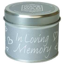 Wax & Wild Candle in Tin - In Loving Memory