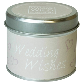 Wax & Wild Candle in Tin - Wedding Wishes