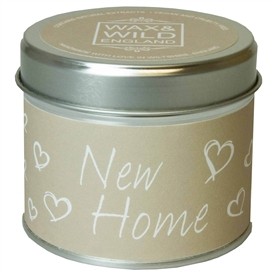 Wax & Wild Candle in Tin - New Home