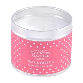 Polka Dot Candle in Tin - Damask Rose