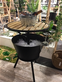 Round Bar Table With Cooler Bucket