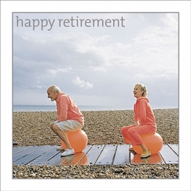 Retirement Space Hoppers Card 16cm