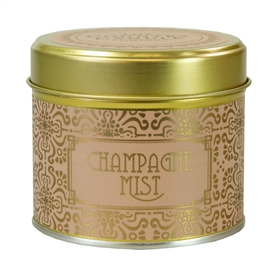 Happy Hour Candle In Tin Champagne Mist