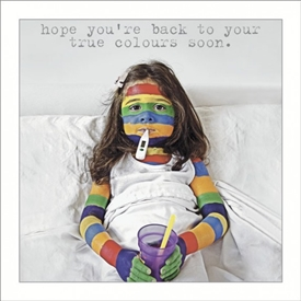 Get Well True Colours Card
