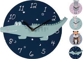 Children's Animal Wall Clock 4 Assorted 26cm