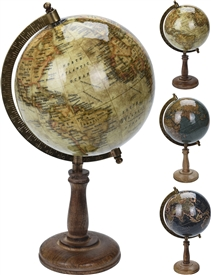 6 Inch Globe On a Wooden Base
