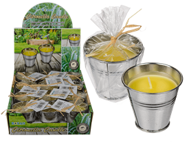 Citronella Candle In Zinc Pot 6cm