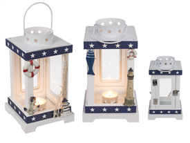 Nautical Lantern 2 Assorted 22cm