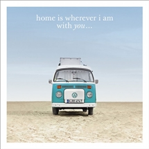 Home Is With You Card 16cm