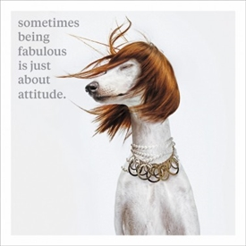 Being Fabulous Card 16cm
