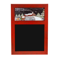 Blackboard With Snow Scene At Top