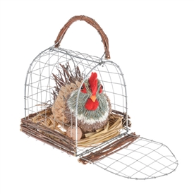 Easter Chicken In Carrier 14cm