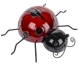 Metal Ladybird Wall Decor