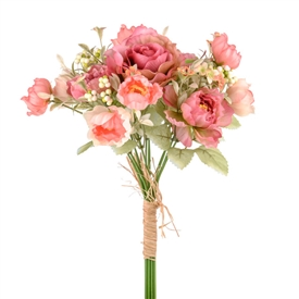 Pink Flower Mix Bunch 33cm